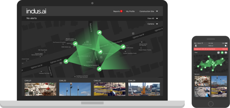 Real time visibility and analytics on your construction project with INDUS.AI