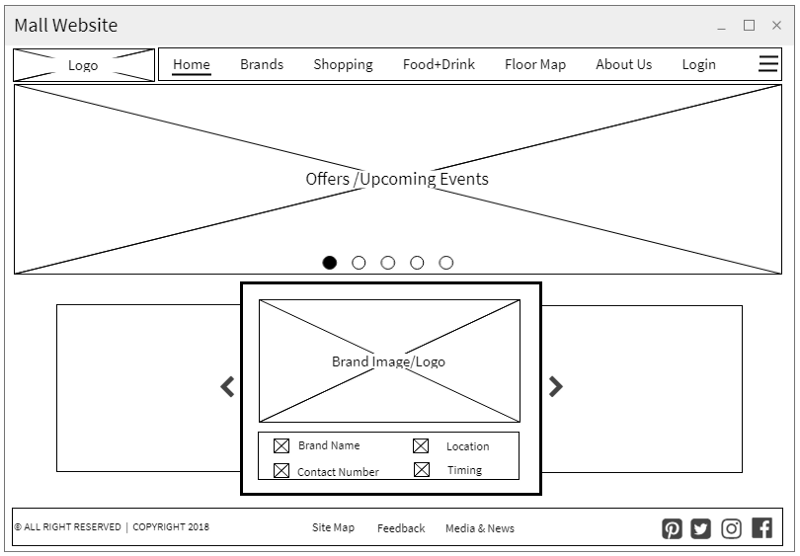 user research mock screen layout