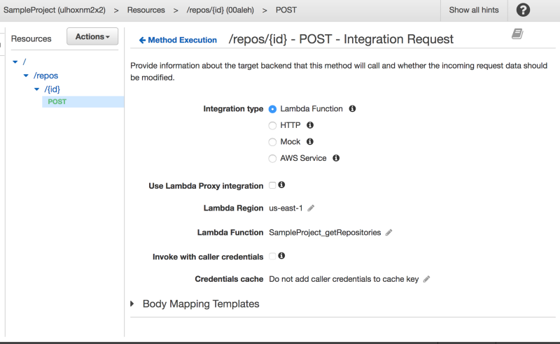 The API Gateway UI is not so fun to workwith!