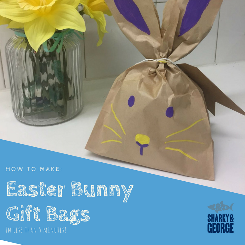 easter craft how to make our sharky george easter bunny gift bags