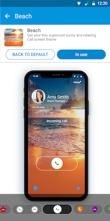 Customize call screen layout & buttons