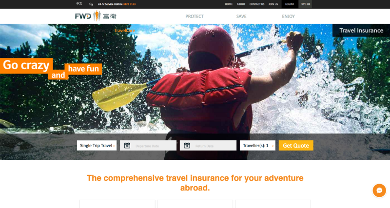 FWD TravelCare Website