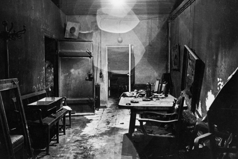 The trashed bunker where Hitler spent his grim final days