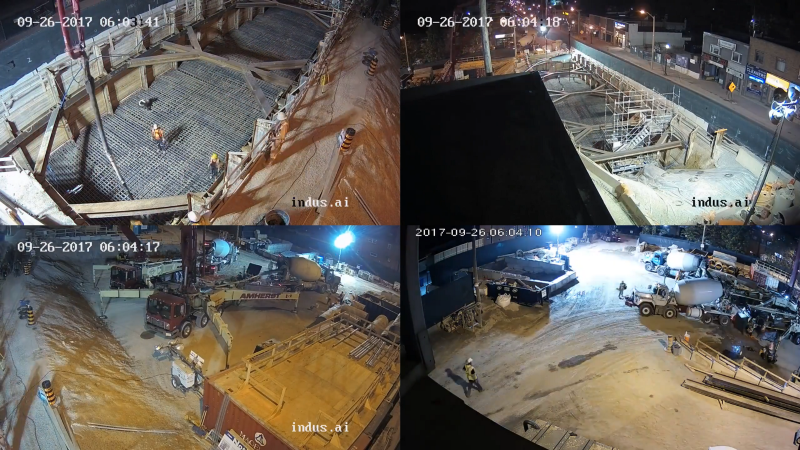 Indus.ai's time-lapse feature to efficiently monitor construction site progress in 1 or 2 minutes