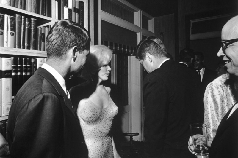 Robert Kennedy and his brother pictured with Marilyn Monroe in 1962