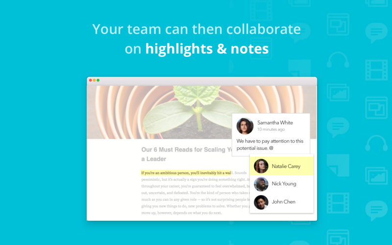 How Kipwise article annotation works - Your team can then collaborate on highlights & notes