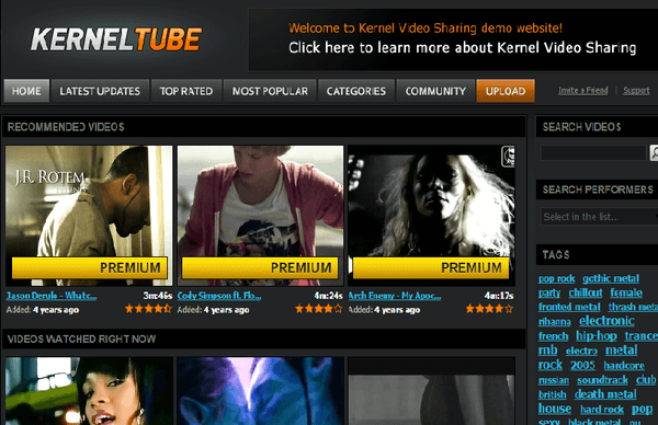 Video Streaming Website Template - video theme