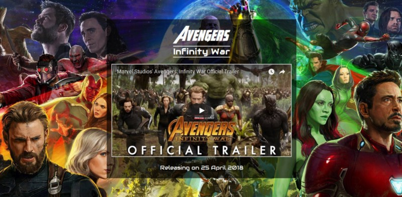 How to make a poster for Avengers: Infinity War in HTML and CSS