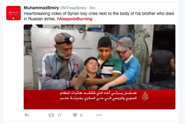 Image result for #AleppoIsBurning Takes Over Social Media With Heartbreaking Images [Video]