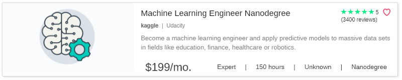 Machine Learning Engineer Nanodegree by Udacity