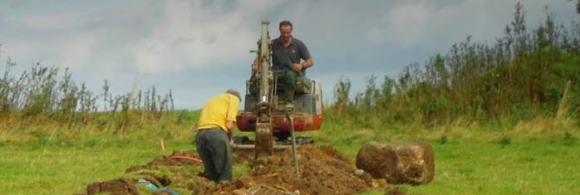 A trench being dug by the UK non-profit community benefit broadband provider[B4RN](http://b4rn.org.uk).