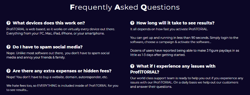 ProfiTORIAL Review FAQ