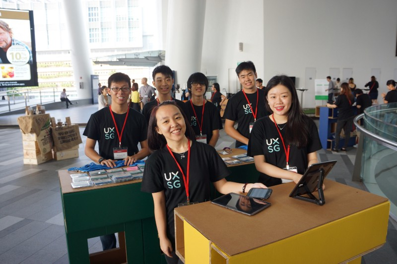 Student volunteers contributing to the growth of professional community