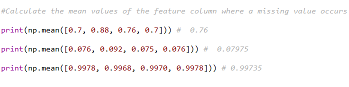 Calculating Mean