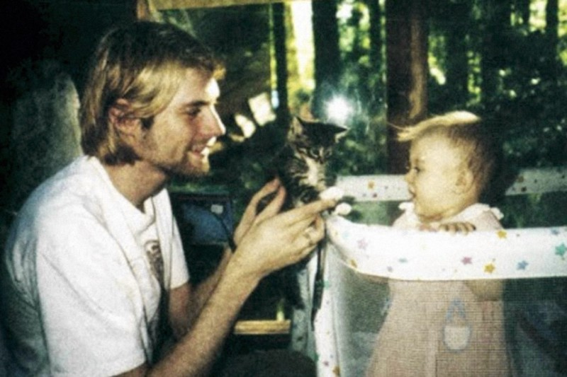 Kurt Cobain was besotted with his young daughter Frances Bean