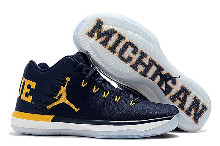 e039c97accf4 Some of the exclusive Jordan Brand footwear created for the Michigan  Wolverines