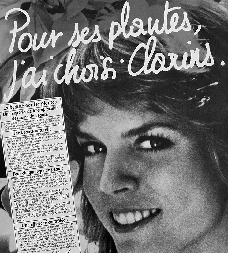Black and white french advertisement