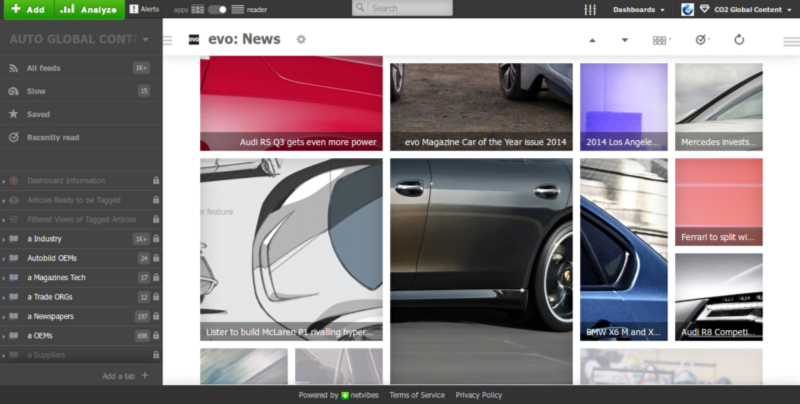 Browse images on Automotive Dashboard