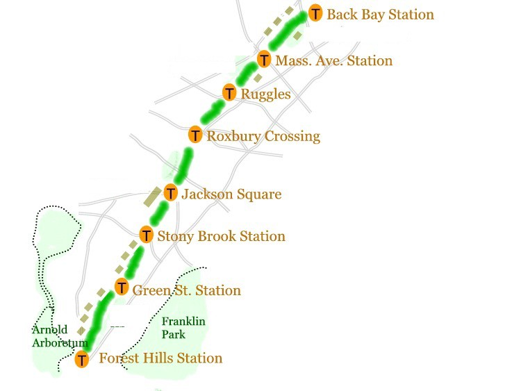 Boston's Southwest Corridor running route