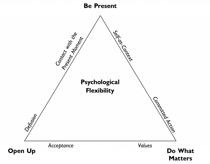 ACT triangle image open up be present and do what matters