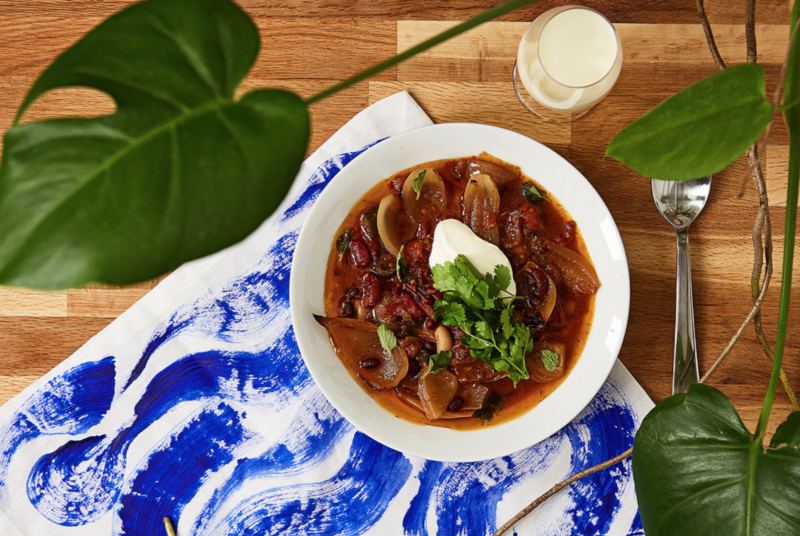 Plant based chili con carne, vegetarian