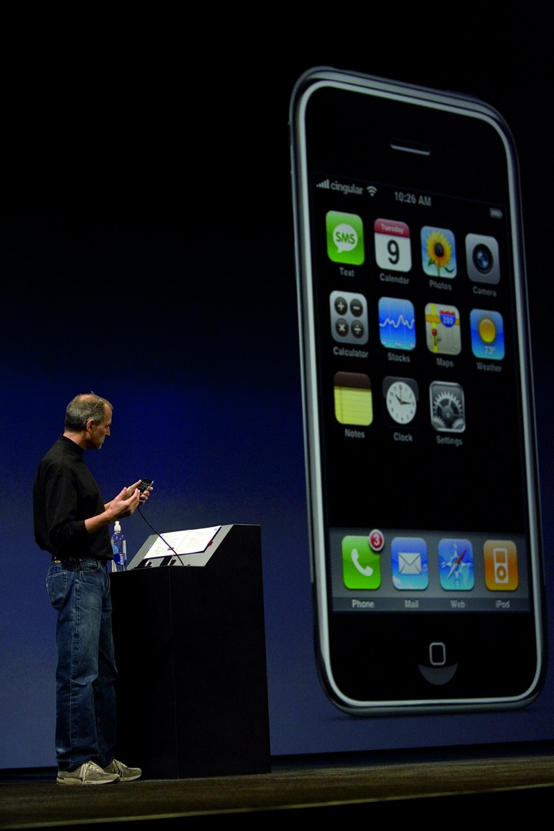 'We've just removed all the buttons, and put one giant screen'. Steve Jobs, 10 years ago.