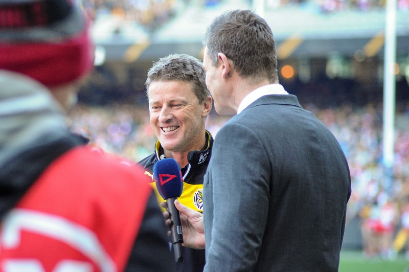 Sporting Chance: Damien Hardwick was backed through thick and thin so that he could grow over time.