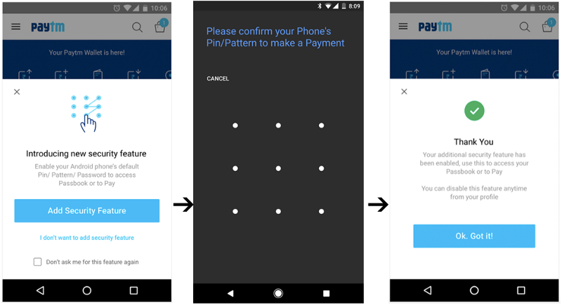 Add Password to your Paytm Wallet