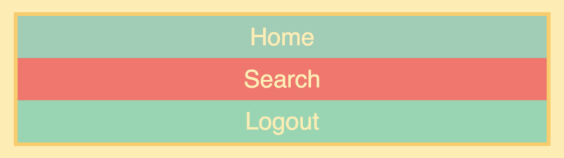 I've added a little bit of styling, but that has nothing to do withFlexbox.