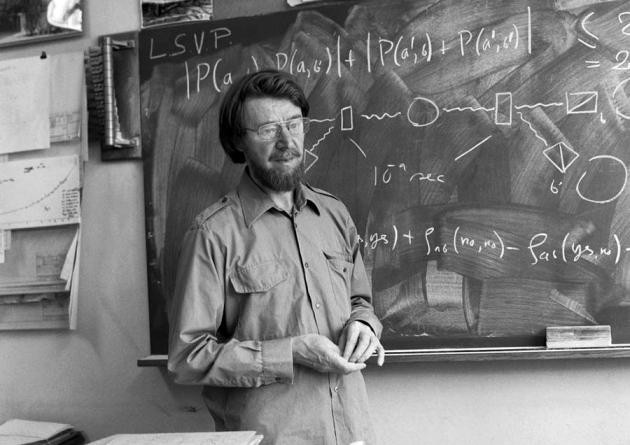 John S. Bell designed an experiment to prove if quantum mechanics is complete (CERN)