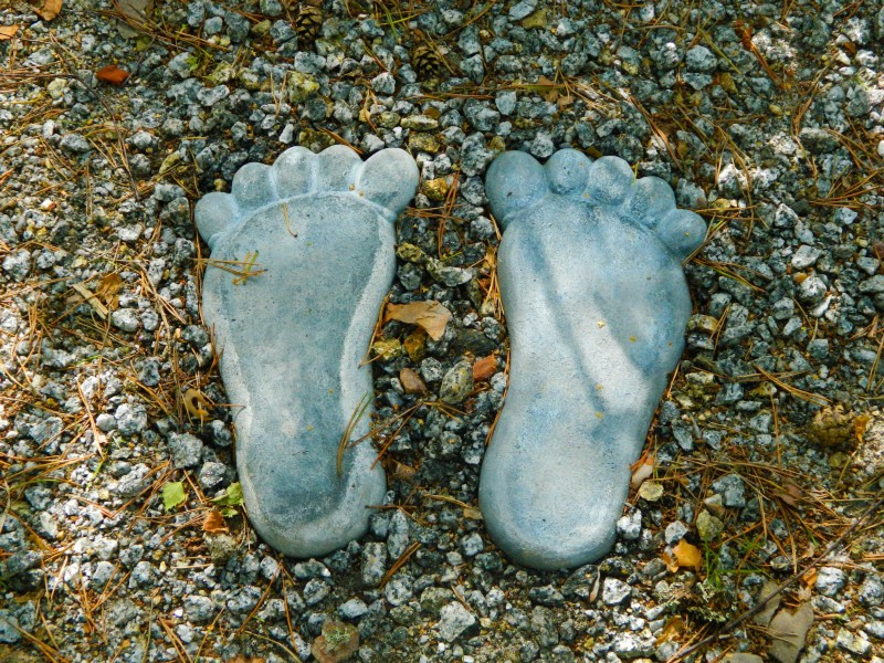 Giant feet casts are often used by hoaxers to fake bigfoot prints