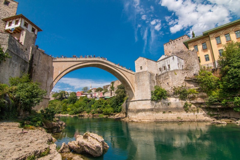 The Old Bridge in Mostar-Bosnia and Herzegovina-bridges