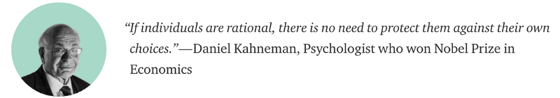 Daniel Kahneman individuals are irrational