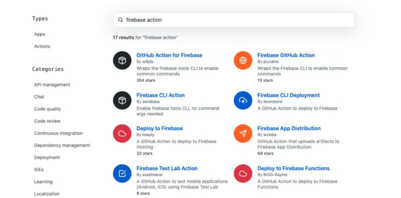 Github Marketplace for Actions