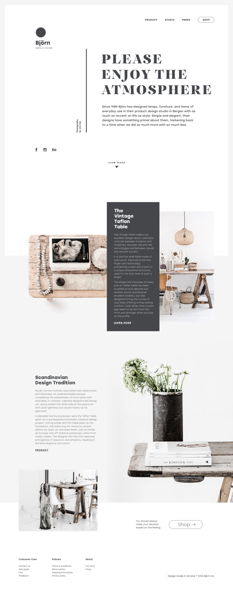 Web of life collection of creative web design concepts for Interieur websites