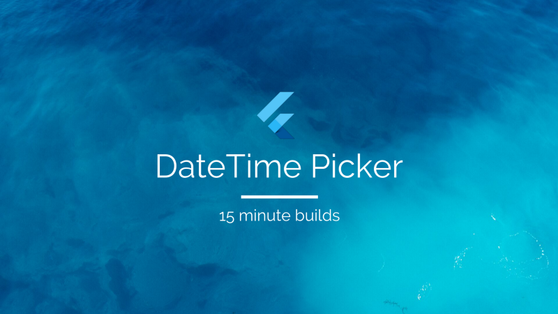 Building a Flutter Date-Time Picker in just 15 minutes