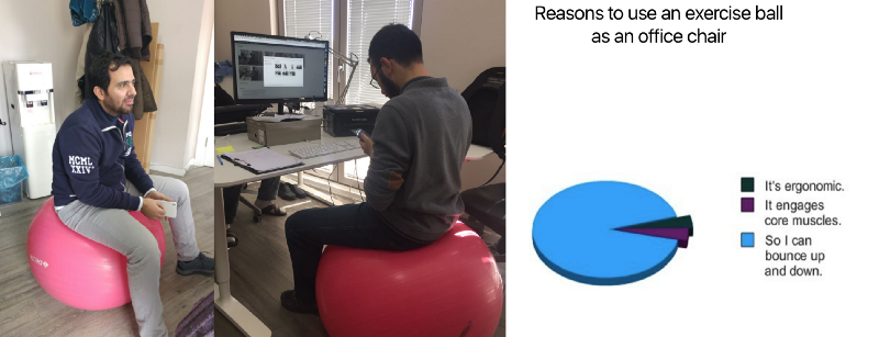 Posture makes perfect Zad Group Medium – Sitting on Exercise Ball Instead of Chair