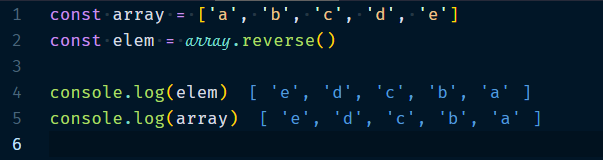 Array.reverse Method
