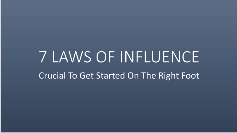 7 Laws of Influence