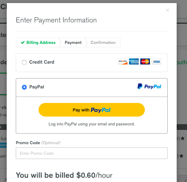 Adding a payment method