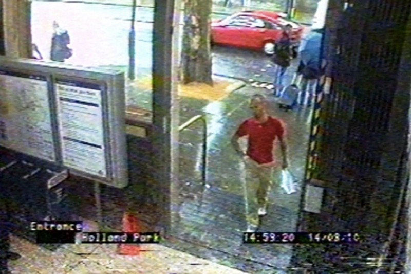 Gareth Williams pictured on CCTV just days before his death