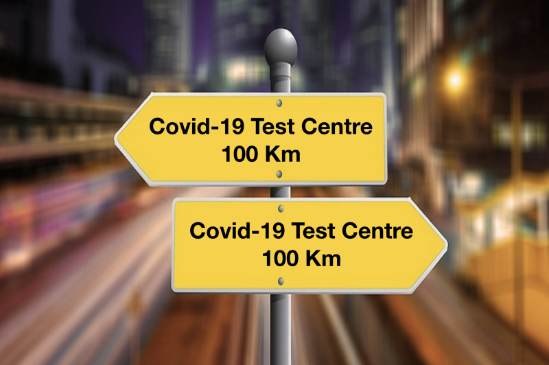 How far is a Covid-19 testing center from your home? (credit: link)
