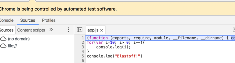 how to add breakpoint in chrome developer tools