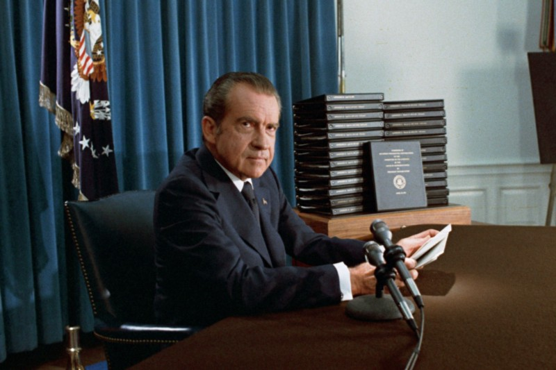 Nixon was directly implicated to the crime and could not save himself
