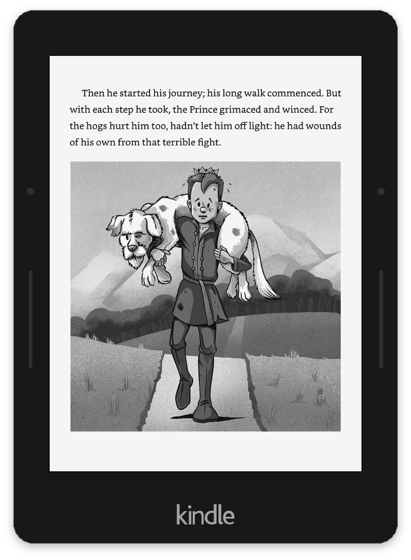 What I Learned Digitally Illustrating My First Childrens Book Kidselectronicsboardjpg Kindle Displays The Original Square Format Which Preserves Context Left Vs More Dramatic Portrait Version In Paperback