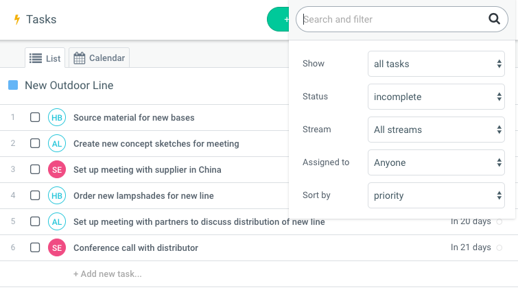 Use tasks list over to-do-list for project management