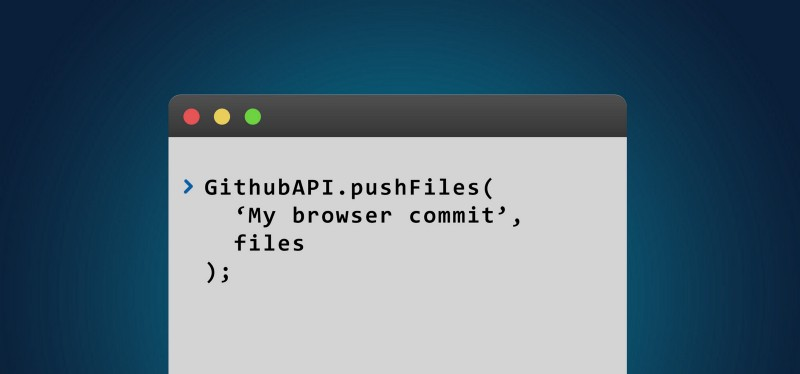 How to commit entire directories to GitHub directly from your browser using GitHub.js