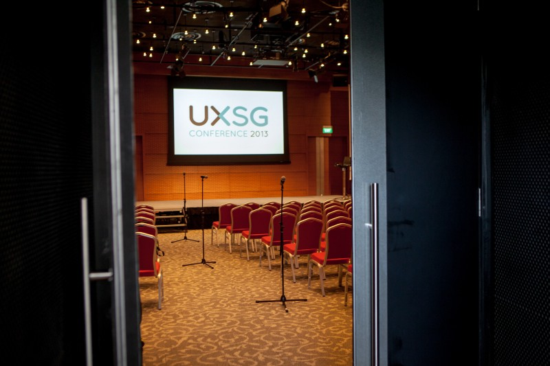 Conference setup in UXSG Conference 2013 at The Star Performing Art Centre