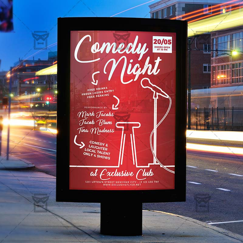 Comedy Night Show — Club A5 Flyer Template – Exclusive Flyer – Medium