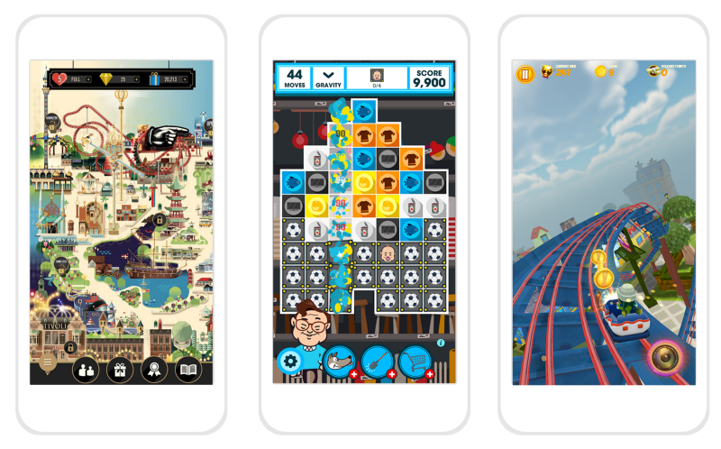 Branded mobile game graphic design